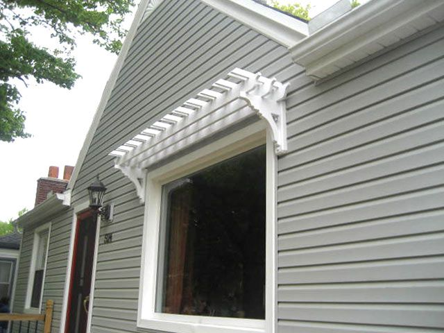 trellis on window