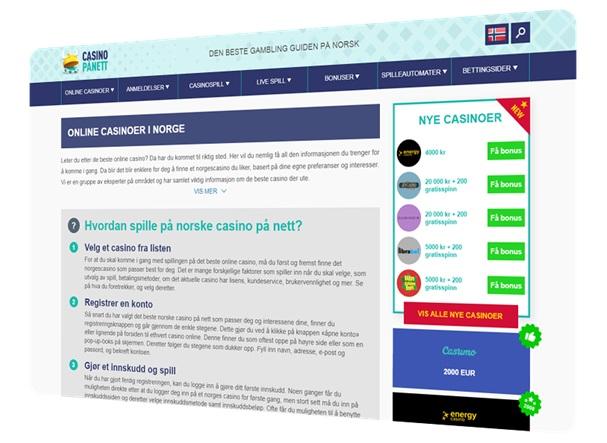 Comeback of Casinopånett.eu for Norway