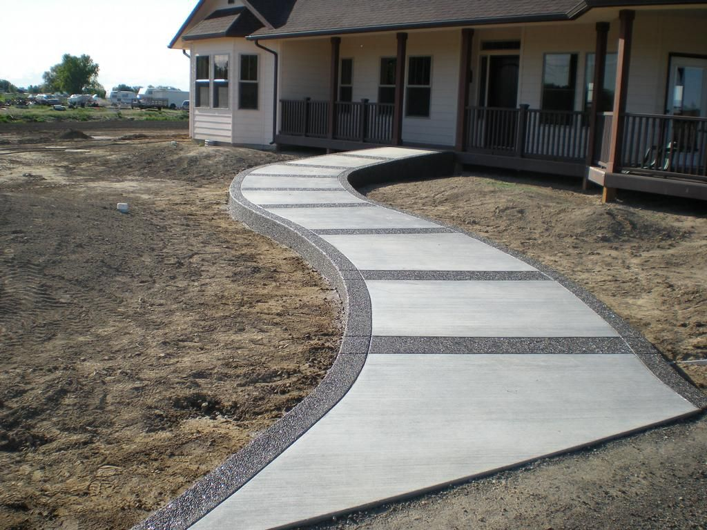 Installing a Concrete Walkway for New Homeowners
