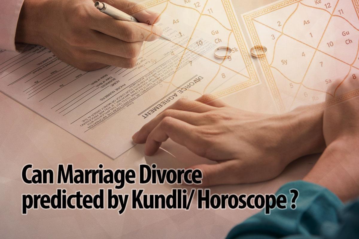 Marriage Divorce be Predicted by Kundli