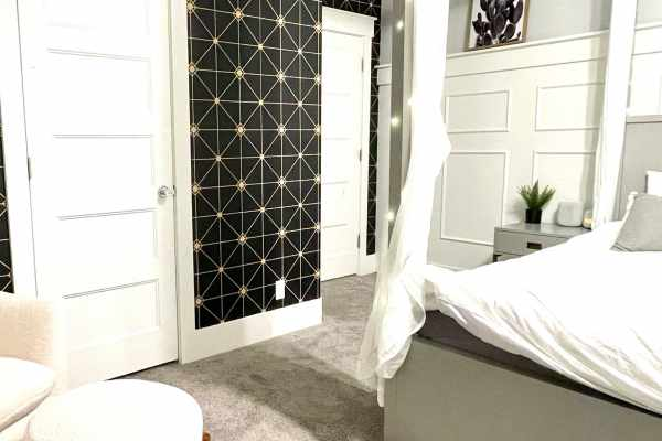 accent wall with removable wallpaper
