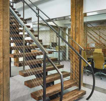 Steel Stairway To Business Property